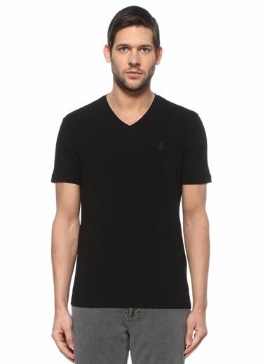 Beymen Club Beymen Club  V Yaka Basic T-shirt 101589572 Siyah